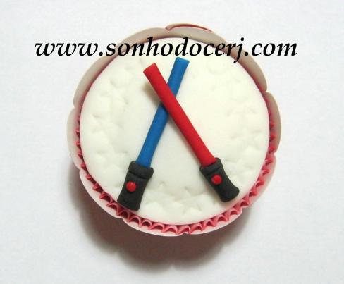Cupcake Star Wars - Sabres de Luz! (C)