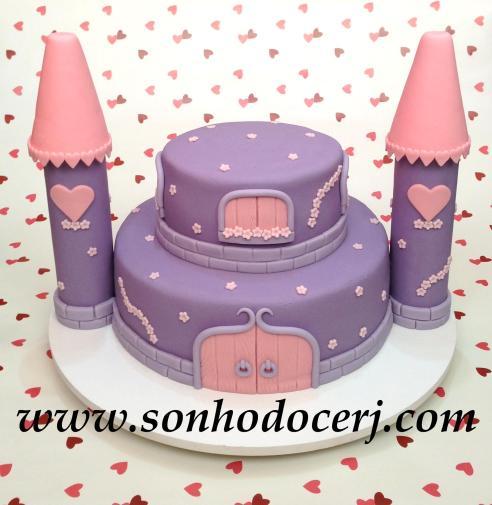 Bolo Princesas - Castelo! (Cód: B194)