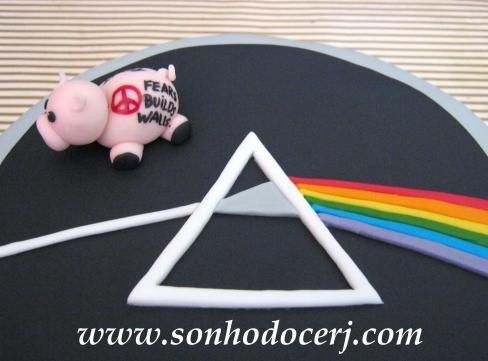 Bolo Pink Floyd em detalhes! (