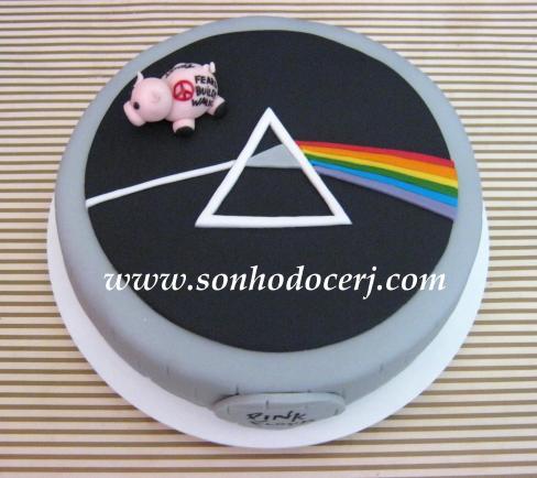 Bolo Pink Floyd - detalhes do topo!