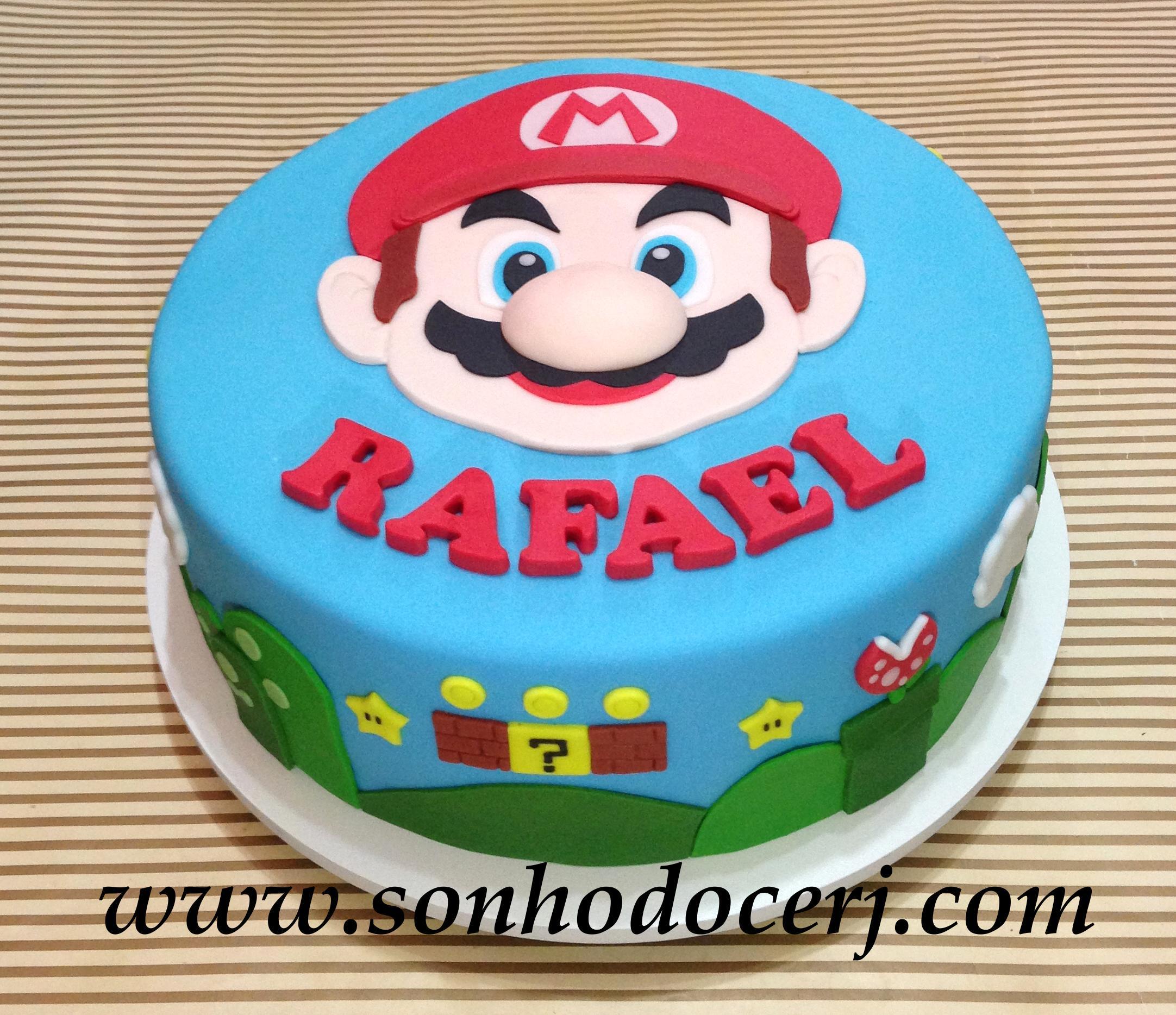 Mario Face Birthday Cake