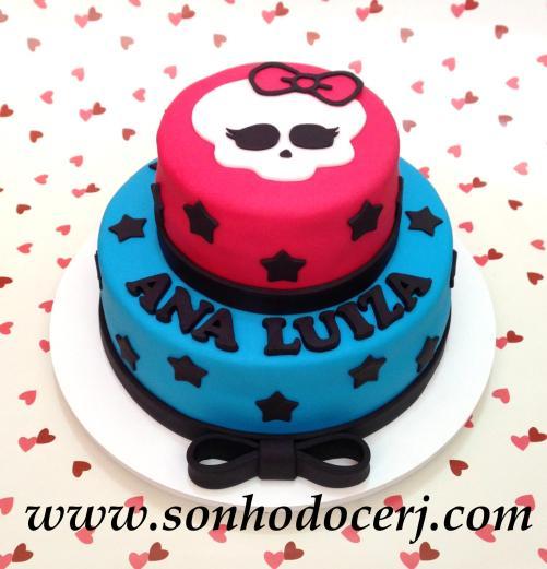 Bolo Monster High – Pink e azul! (Cód: B192)