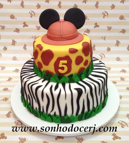 Bolo Mickey Safari! (Cód: B207)