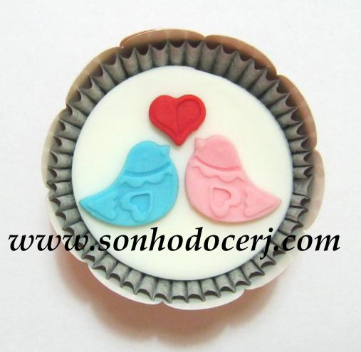 Cupcake Casal de Passarinhos! (C)