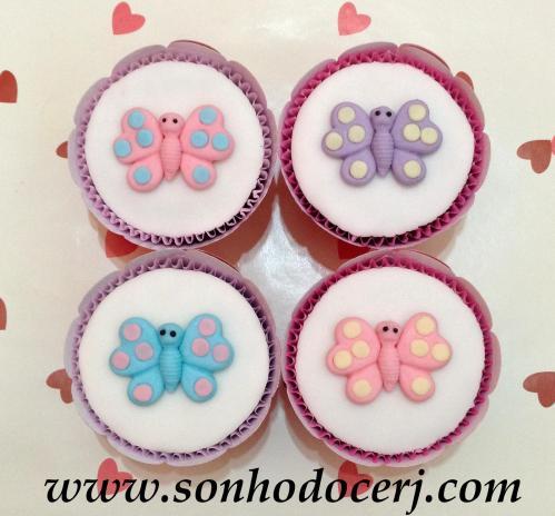 Cupcakes Borboleta com bolinhas! (C)