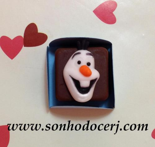 Bombom Modelado Frozen! Boneco de Neve Olaf (7)