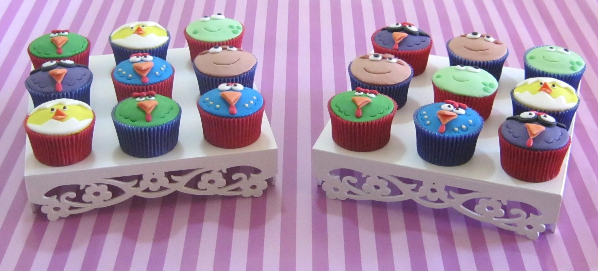 Bandejas   Cupcakes Da Galinha Pintadinha