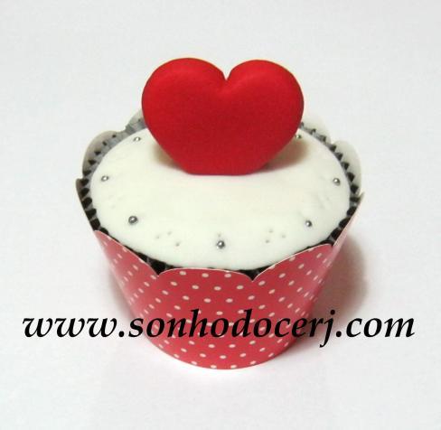 Cupcake Coração 3D! (B)