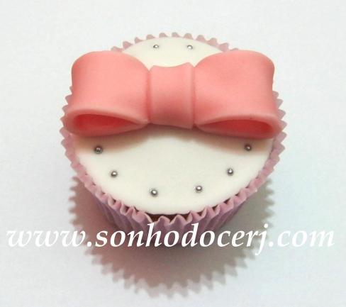 Cupcake Laço grande 3D! (B)