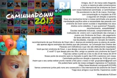 convite CAMINHADOWN 14