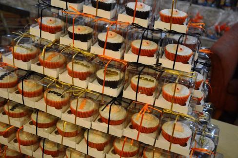 Cupcakes feitos com muito amor para o