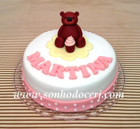 Bolo Ursinho com cupcake!