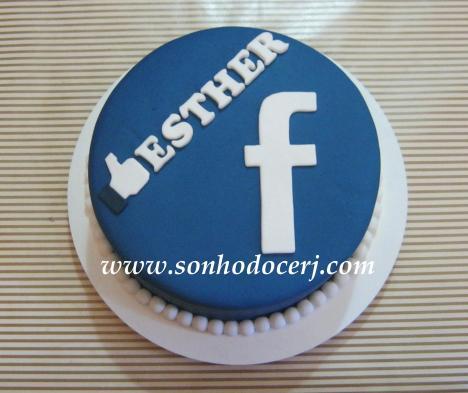 Bolo Facebook! (Cód: B077)