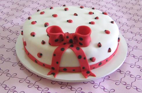 Bolo Joaninha (baseado no bolo
