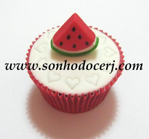 Cupcake Turma da Mônica! Melancia 3D ()