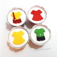 Cupcakes Turma da Mônica!! Roupinhas: Cascão (8,00), Magali (6,00), Mônica (6,00), Cebolinha (8,00)!