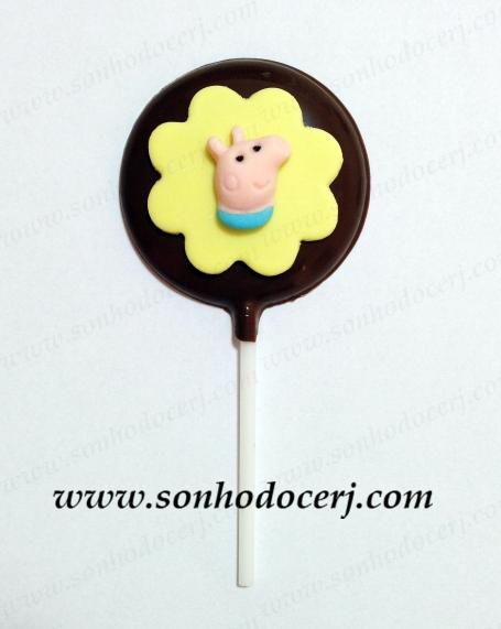 PIrulito de chocolate! George em alto relevo (P6)