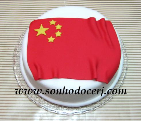 Bolo Bandeira da China! (Cód.: B184)