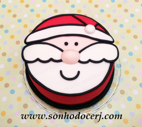 Bolo Natal - Papai noel! (Cód.: B256)