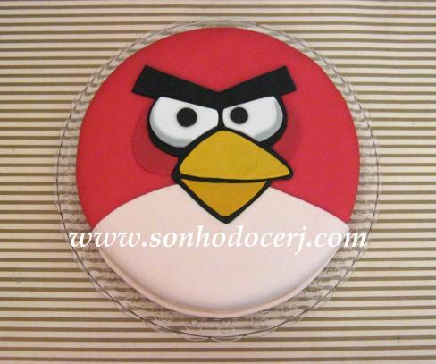 Bolo Angry Birds - Pássaro Vermelho