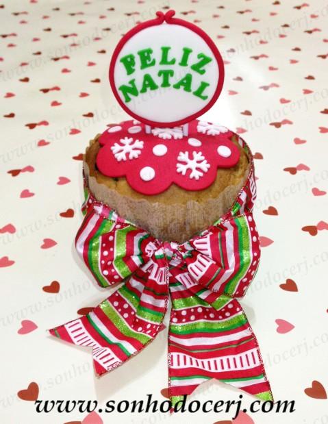 Panetone decorado - Feliz Natal!
