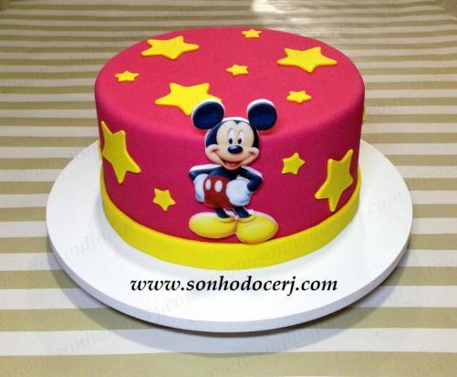 Bolo Mickey (estrelihas)! (Cód.: B308)