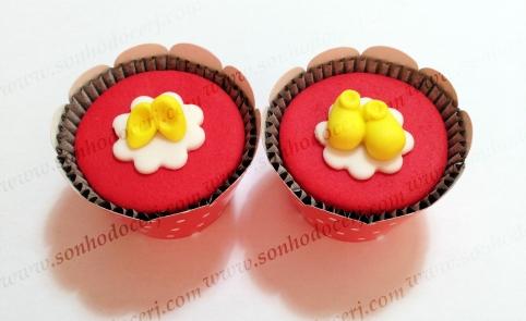 Cupcakes! Sapatinhos Minnie (), Sapatinhos Mickey ()