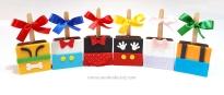 "Pães de mel no palito ""Mickey e sua turma""! Pluto (12,00), Pato Donald (12,00), Minnie (12,00), Mickey (12,00), Margarida (12,00), Pateta (12,00)"