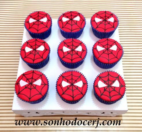 Cupcakes Homem Aranha - Teia com olhos! (E)