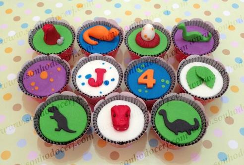 Cupcakes Dinossauros!