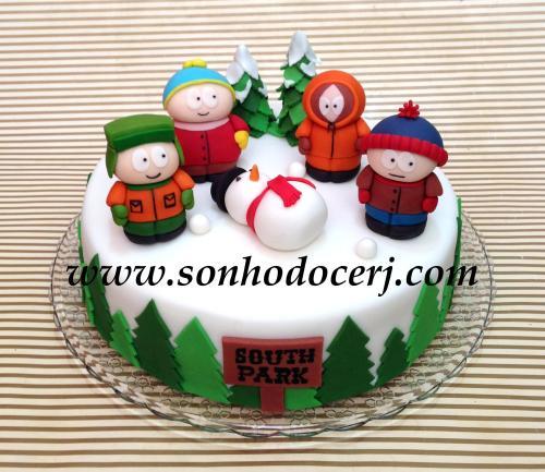 Bolo South Park! Toda a decoração minuciosamente esculpida à mão! (Cód: B175)