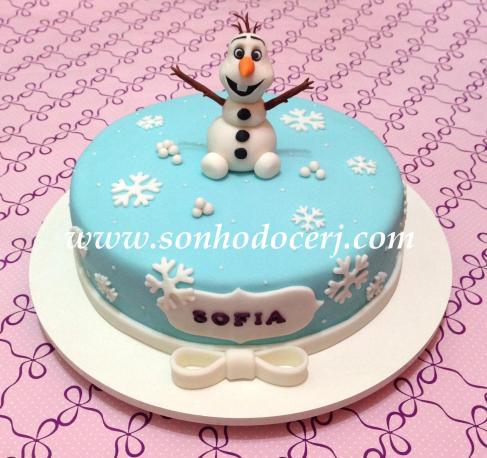 Bolo Frozen (Olaf)! (Cód: B174 )