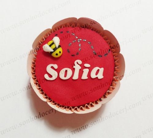 Cupcake Abelhinha 3D com nome! (F)