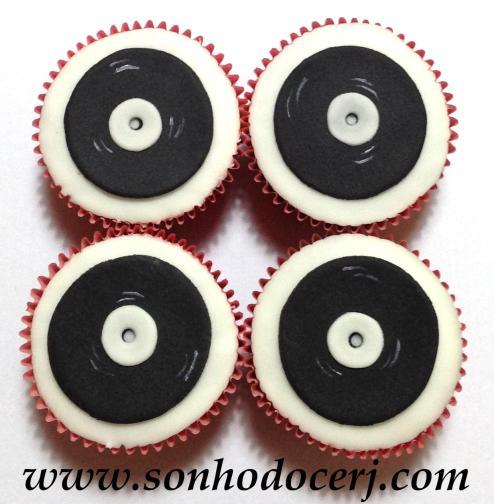 Cupcake Disco de Vinil! (C)