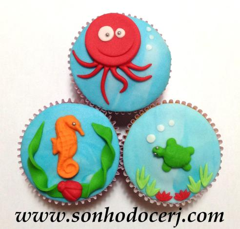 Cupcakes Fundo do mar!