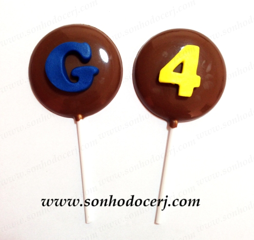 Pirulitos de chocolate! Letra (P2), Número (P2)