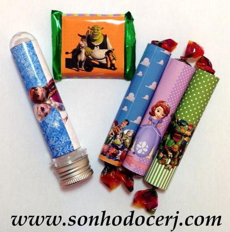 Tubete, Mini Talento e Jujuba Gomets tubo personalizados!