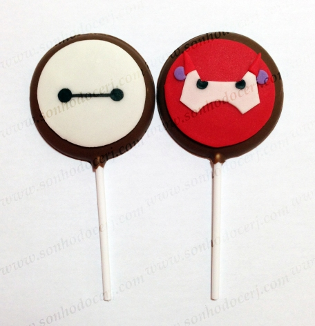 Pirulitos de chocolate Big Hero 6 / Baymax! Baymax branco (P3) / Baymax vermelho (P6)